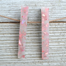 Load image into Gallery viewer, Pink Foil Clips (set of 2)