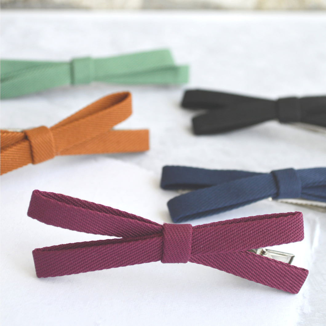 Skinny Bow Clips (Set of 5)