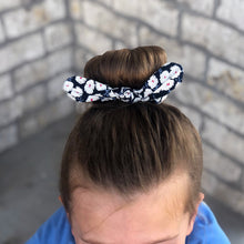 Load image into Gallery viewer, Top Knot Scrunchie - Poppy (set of 3)