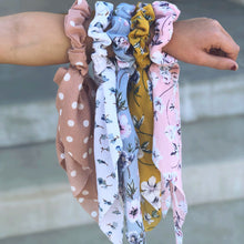Load image into Gallery viewer, Scarf Scrunchie - Polka Dot