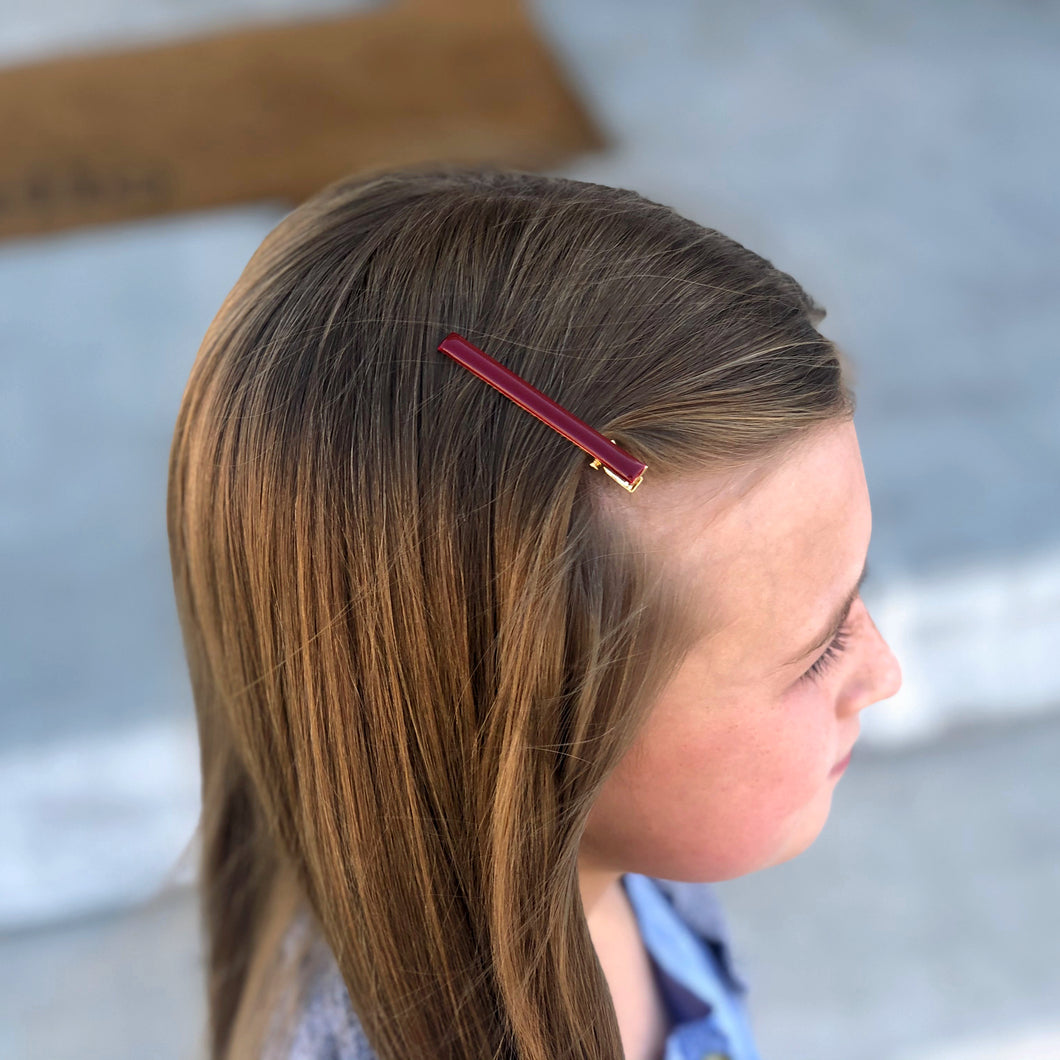 Maroon Clips (set of 2)