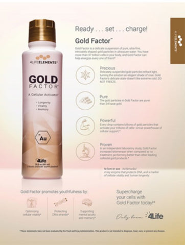 4Life Transfer Gold Factor boosts cellular vitality sharpen mental acuity memory longevity protect cellular DNA