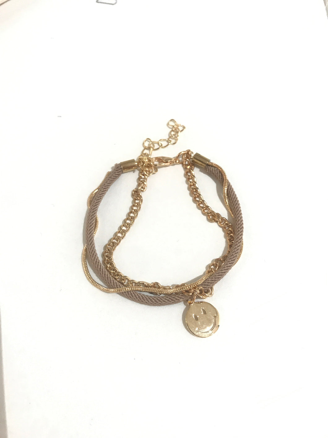 HAPPY FACE Bracelet -3 chains