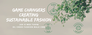 Jan 15 Event Ticket - Game Changers: Creating Sustainable Fashion