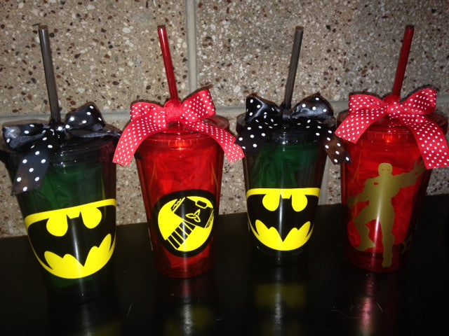 Personalized Superhero Tumbler