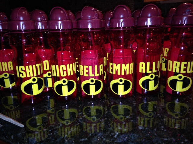 Personalized Kid's Water Bottles Superhero Party