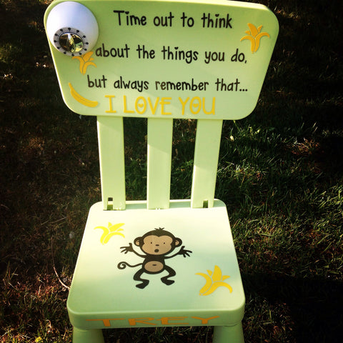 Personalized Time out chair - Monkey Business