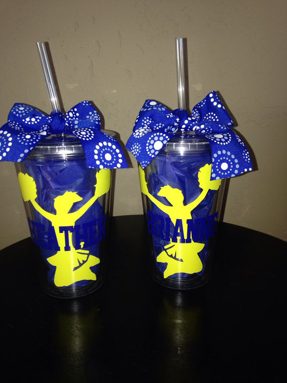 Personalized Cheerleading Cheer Team Tumbler