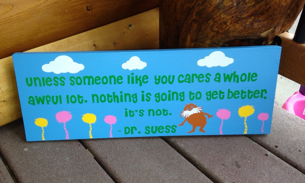 Playroom Wooden Lorax Sign