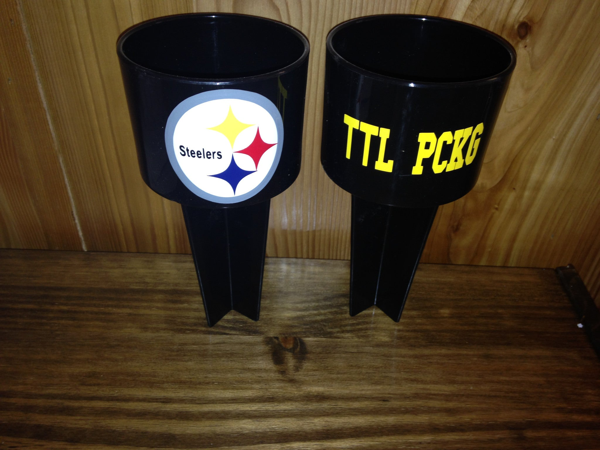 Personalized Spiker Beach Cup holders Steelers Football