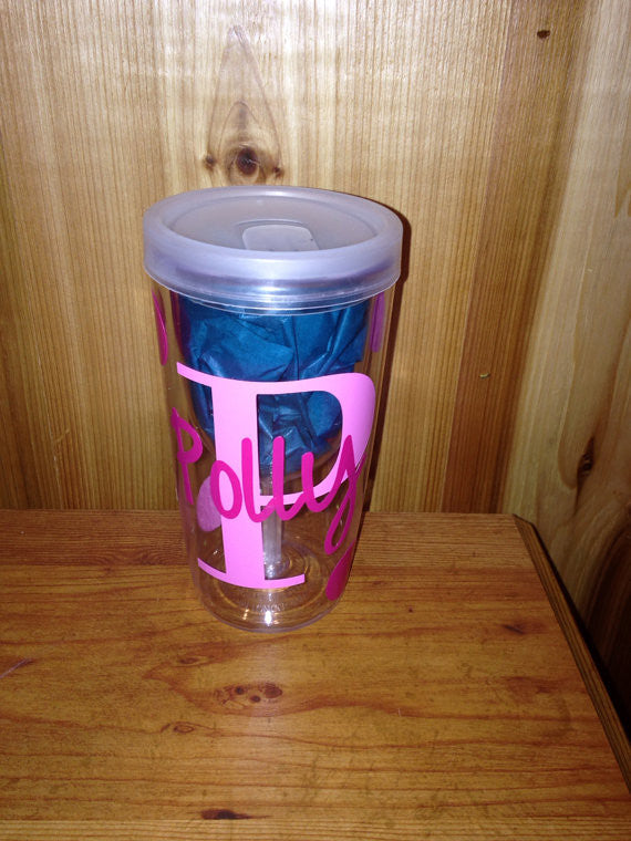 Personalized Spill Proof Plastic Wine Tumbler