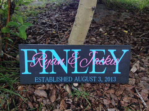 Personalized Family Anniversary Sign Wedding Gift