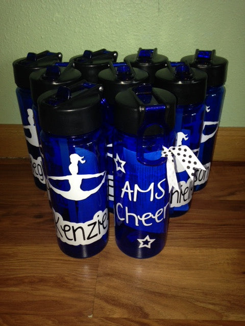 Personalized Cheer Cheerleader water bottle Team Gift