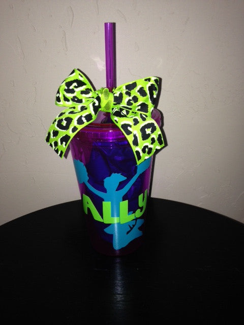 Personalized Cheerleading Cheer Tumbler