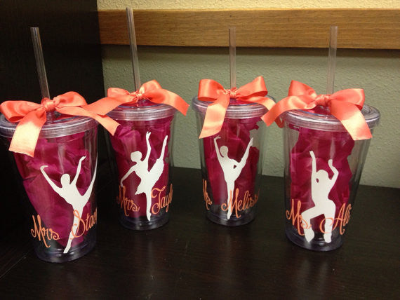Personalized Dance Team Dancer Tumbler
