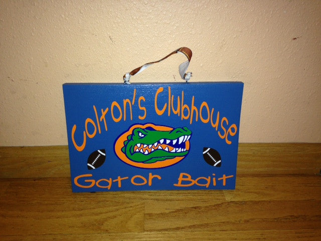 Personalized Wooden Playhouse clubhouse Playroom Sign Gators