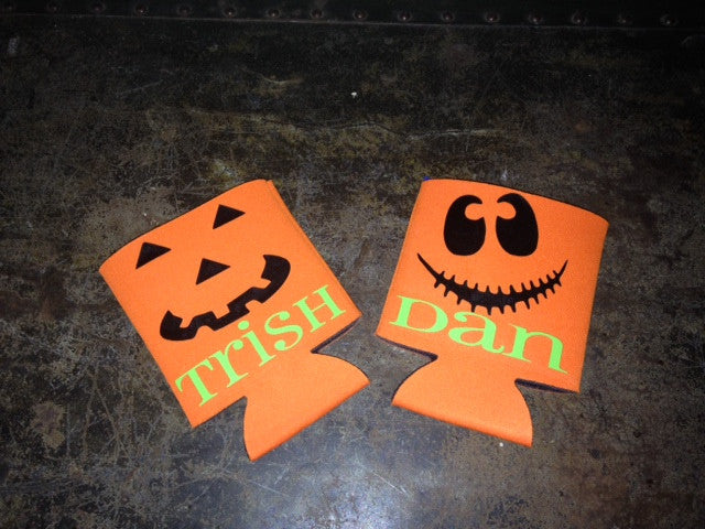 Personalized Halloween Beer cozy koozie