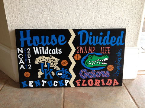 House Divided College Basketball Sign