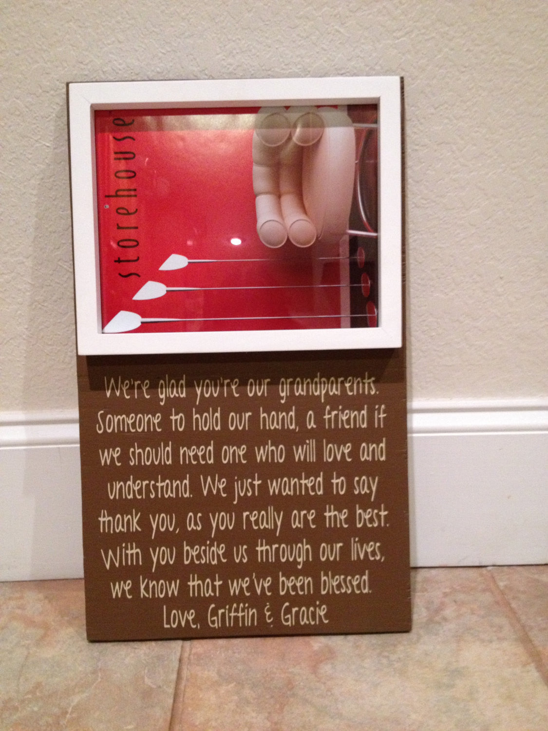 Personalized Wooden grandparent frame