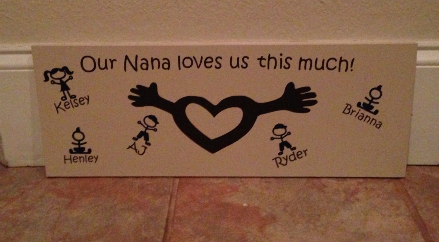 Personalized Nana Wooden Sign