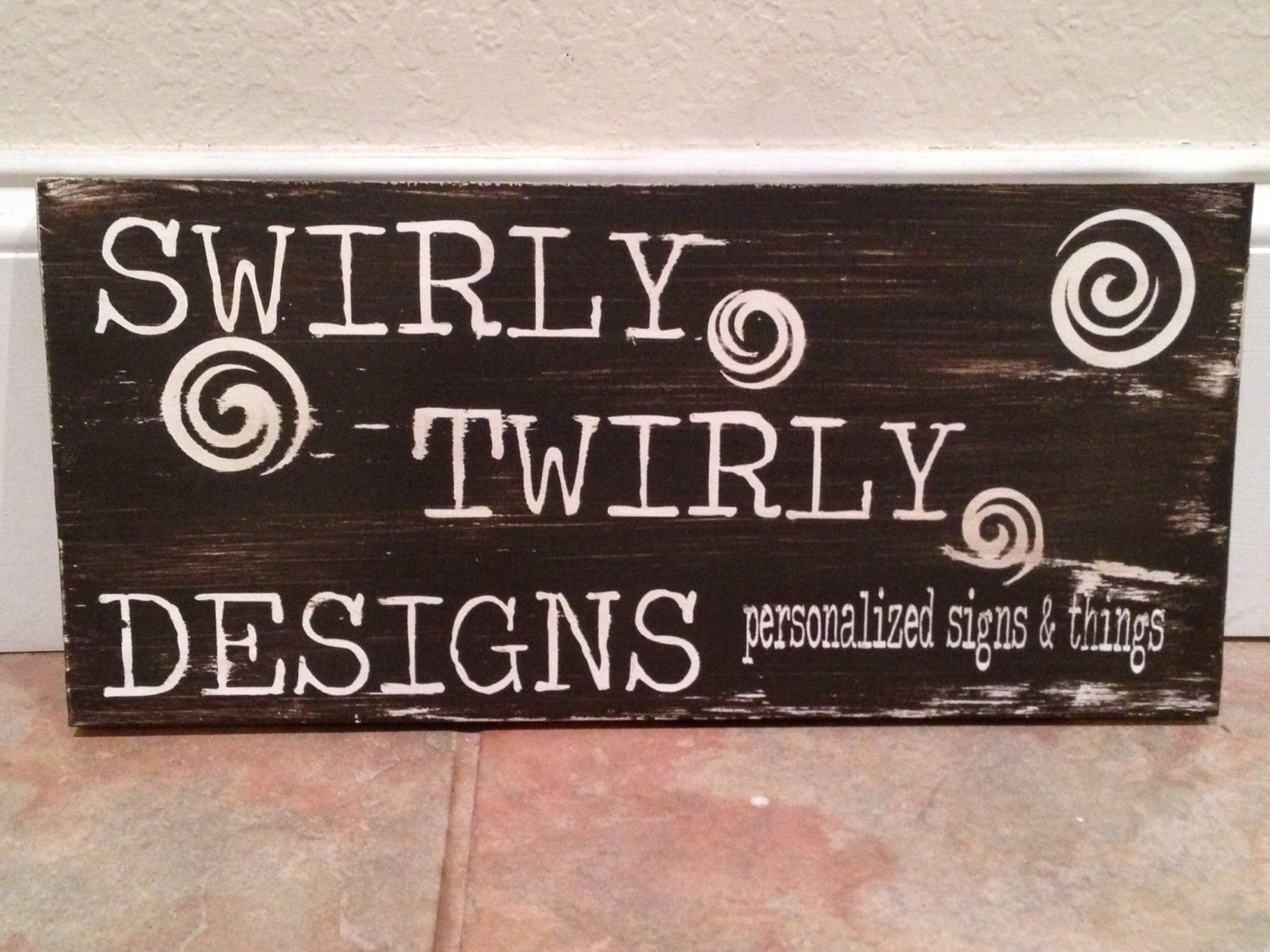 Custom Made Distressed Business Shop Sign