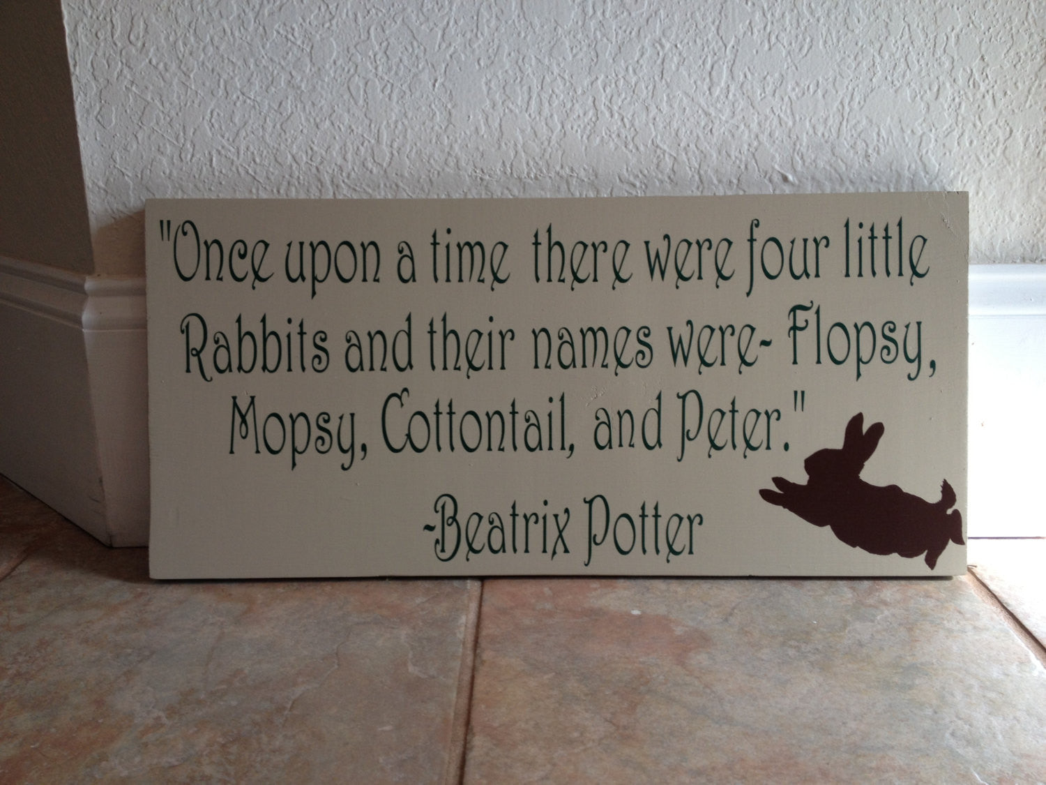 Peter Rabbit Nursery Wooden Wall Sign