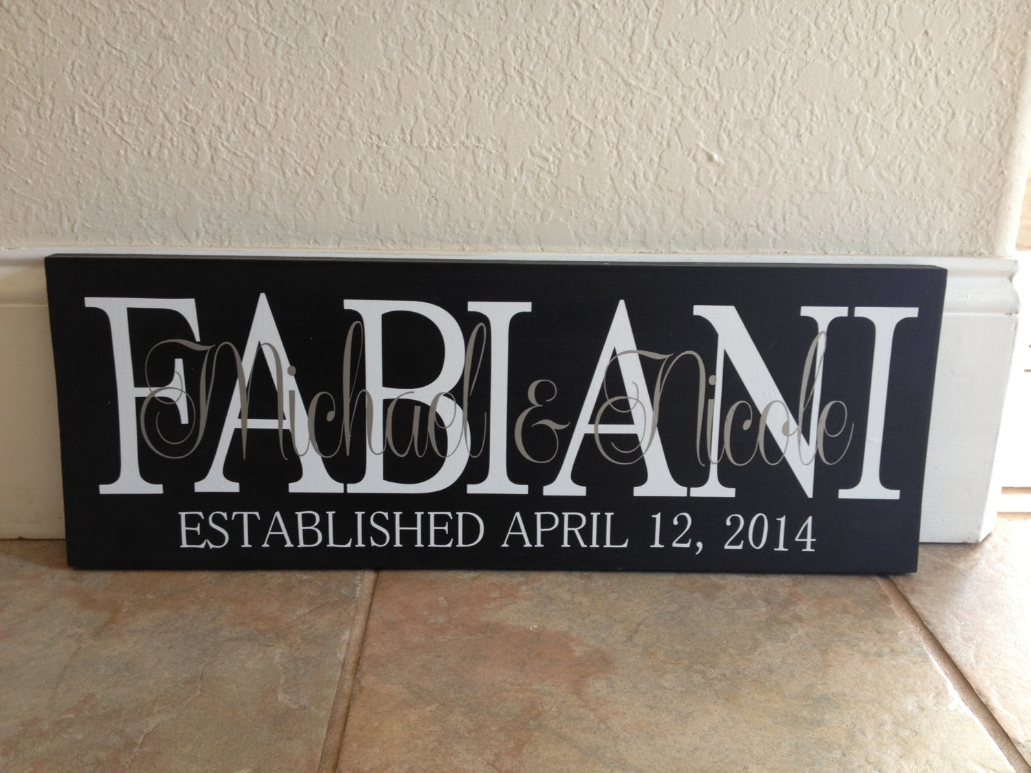 Personalized Family Anniversary Sign