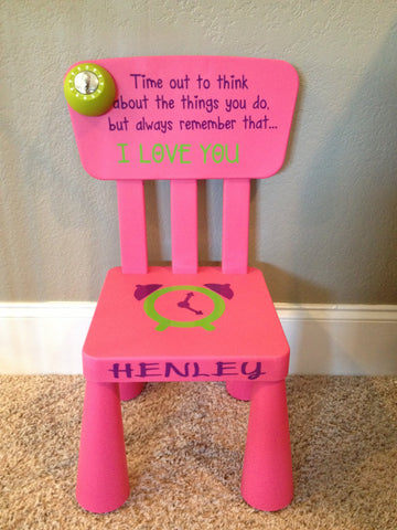Personalized Time Out Chair with Timer-