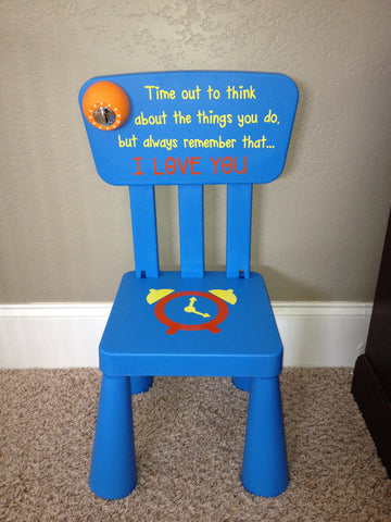 Personalized Time Out Chair with Timer