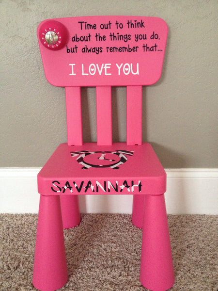 Personalized Sugar And Spice Time Out Chair With Timer