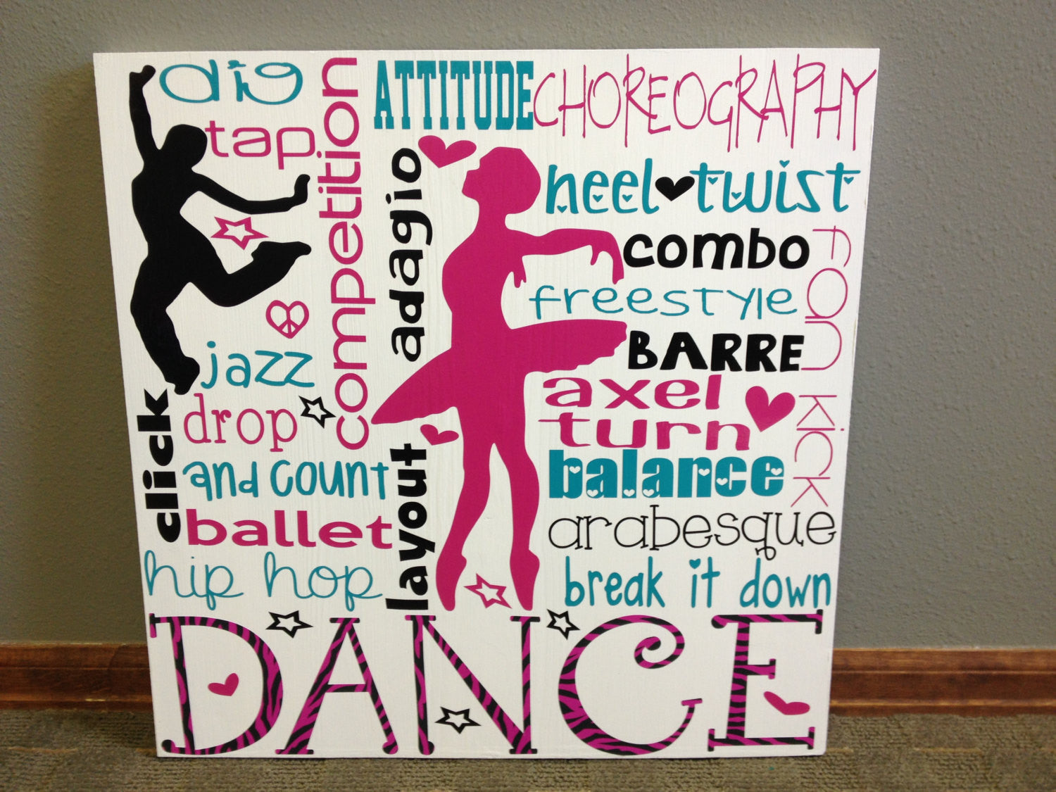 Personalized Wooden Dance Sign 20x20