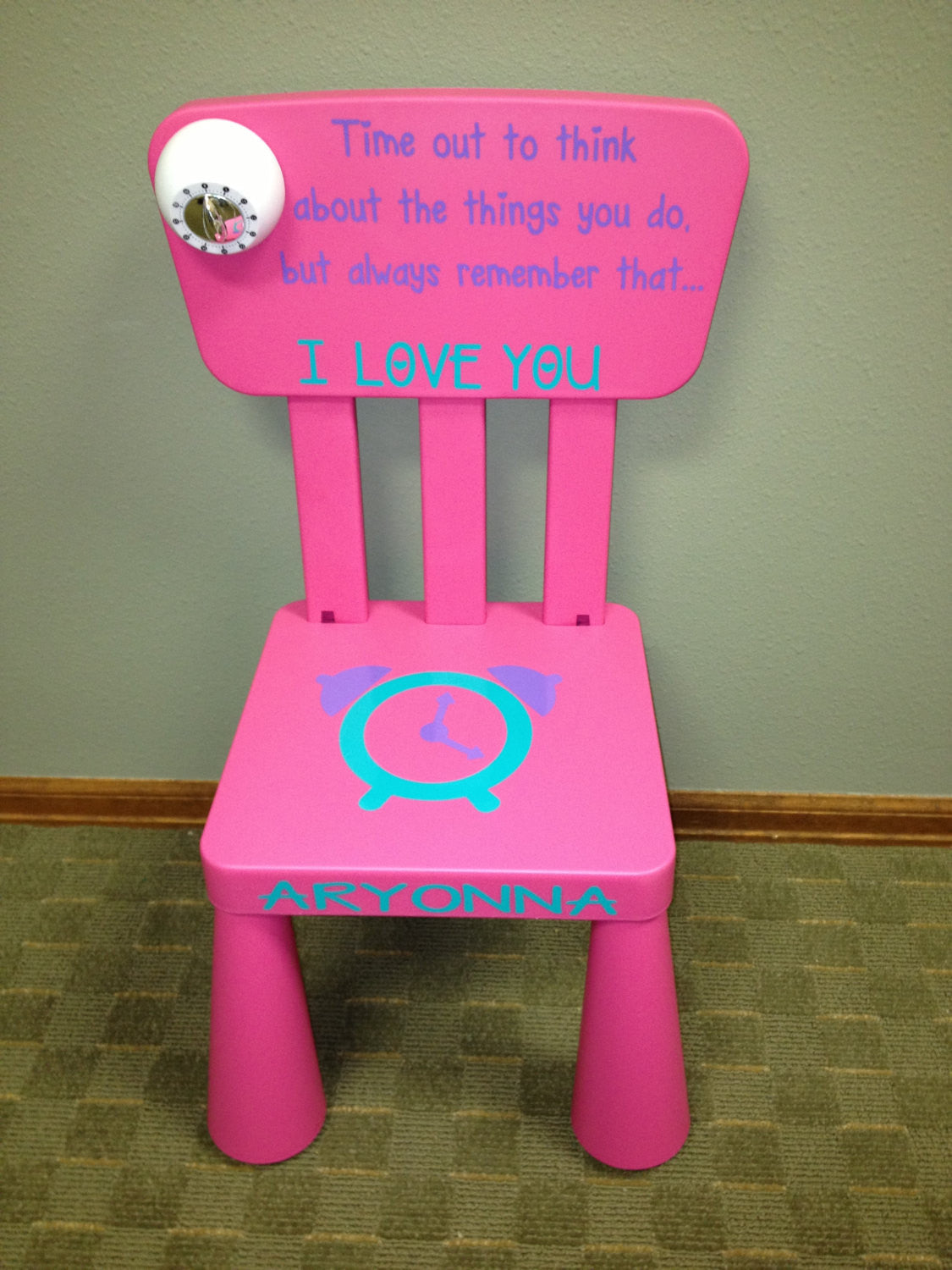 Personalized Sugar and Spice Time Out Chair with Timer & Personalized Sugar and Spice Time Out Chair with Timer