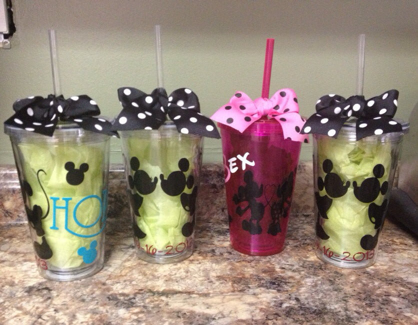 Personalized Disney Mickey Minnie Mouse Tumbler