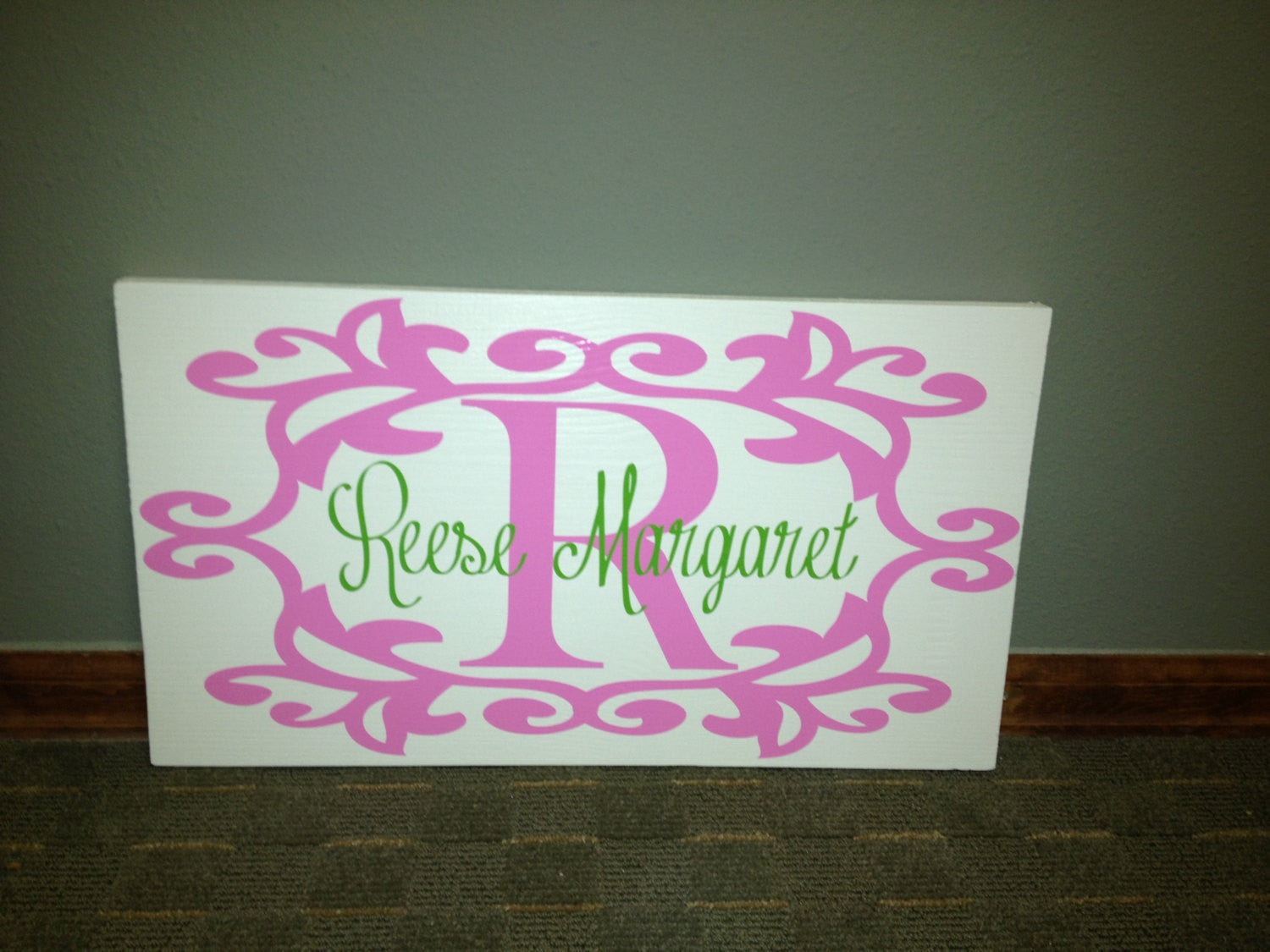 Monogrammed Personalized Wooden Name Sign