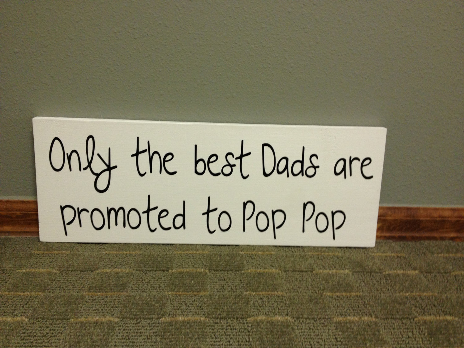 Wooden Grandpa Pop Pop Sign