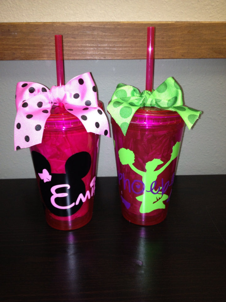 Personalized Minnie Mouse & Cheer Tumblers