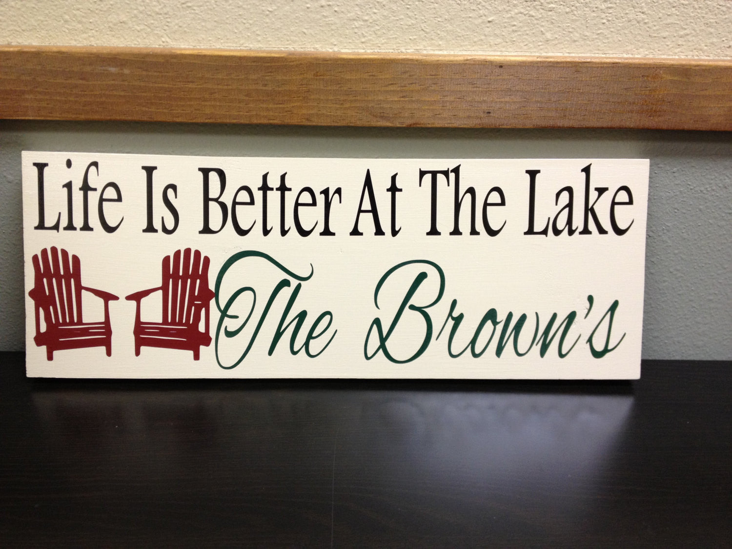 Personalized Lake house Wooden Sign