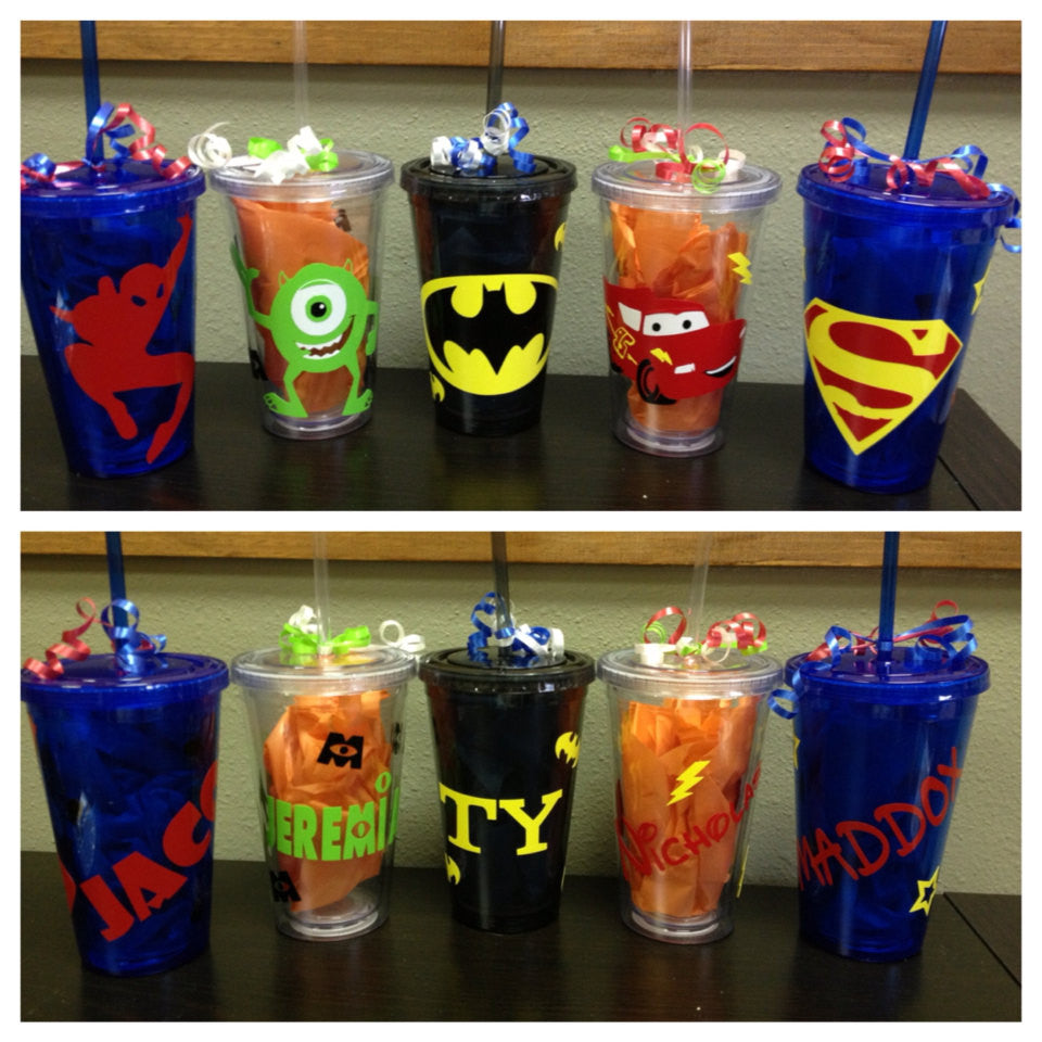 Personalized Superhero Cartoon Tumblers