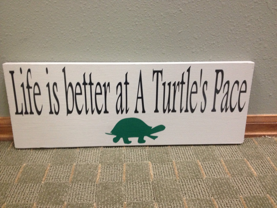 Personalized Wooden Vacation Home Cabin Sign Turtles