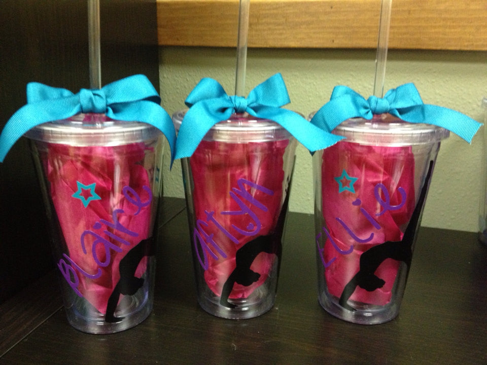 Personalized Gymnastics Team Gift Tumblers