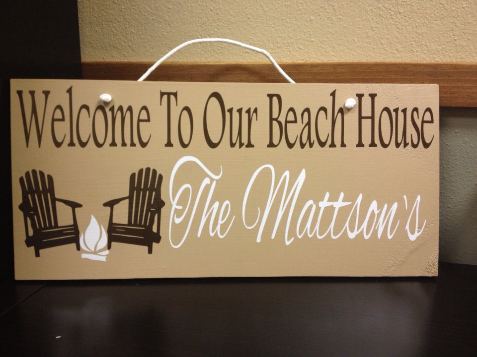 Personalized Wooden Lake house Established date sign Cabin