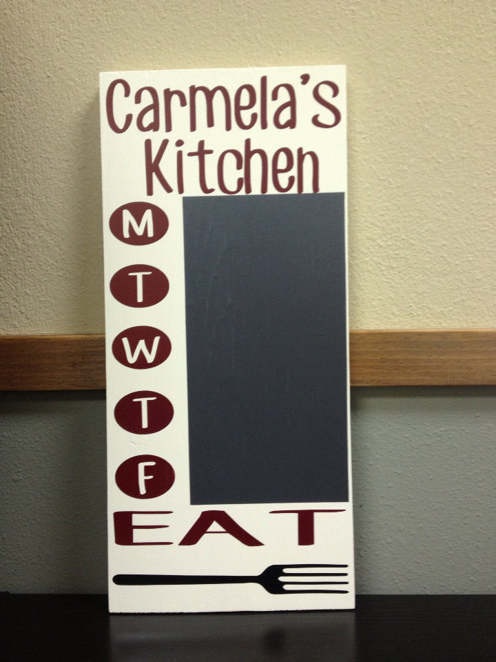 Personalized Wooden What's Cooking Sign Chalkboard