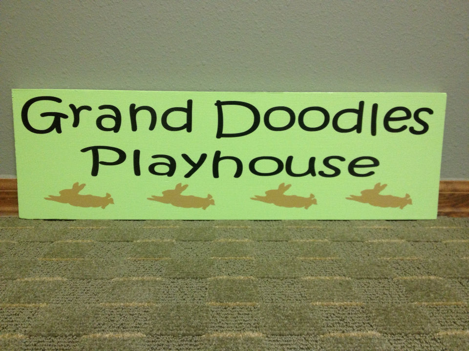 Personalized Wooden Playhouse clubhouse Playroom Sign 8x20""