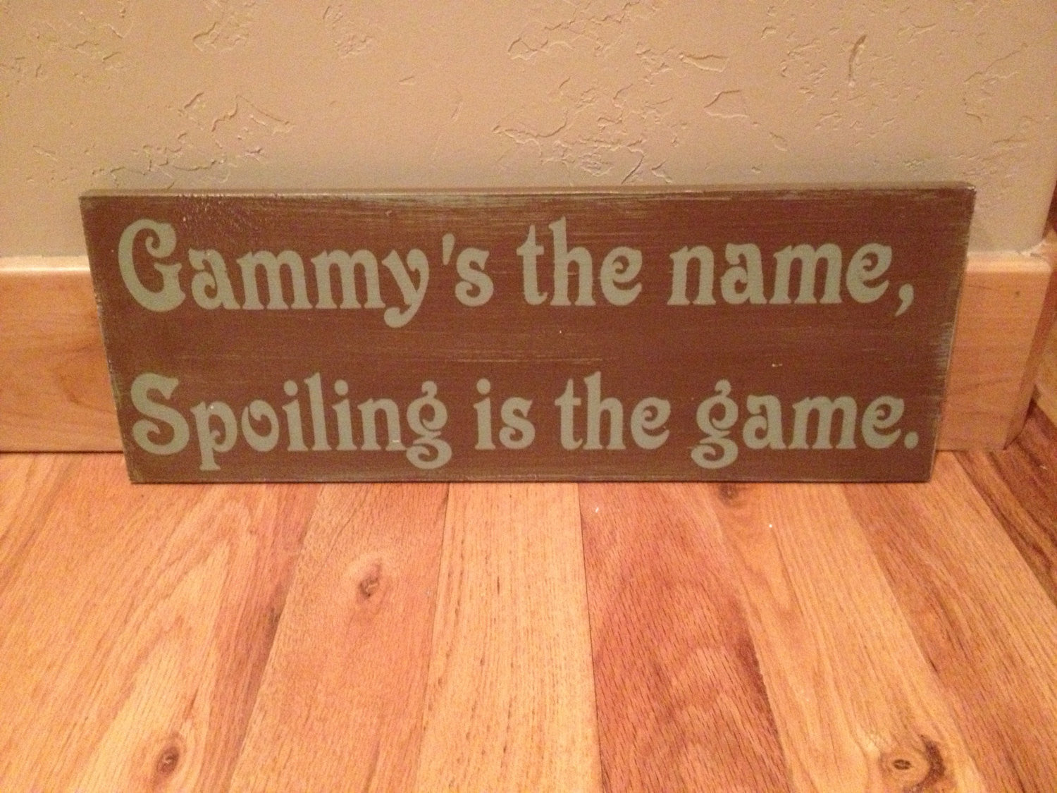 Distressed grandma gammy wooden sign 8x20""