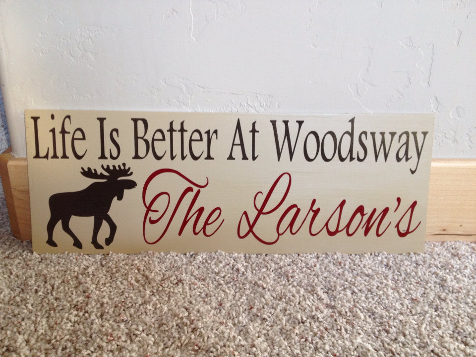 Personalized Mountain Cabin Sign