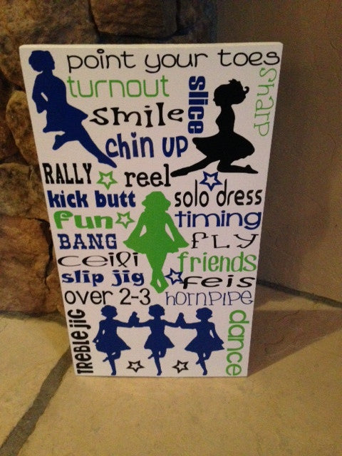 Personalized Wooden Irish Dance Sign Teen Room Celtic