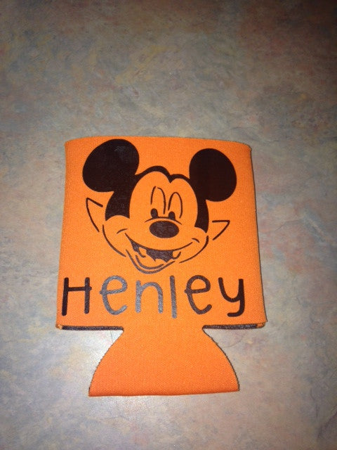 Personalized Halloween Drink can cozy koozie
