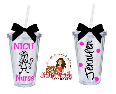 Personalized Nurse Appreciation Tumbler
