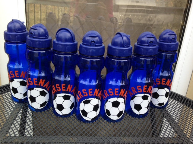 Personalized Kid Soccer water bottle party