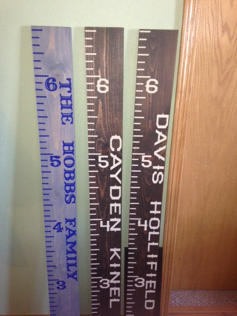 Personalized Wooden Growth Chart Ruler
